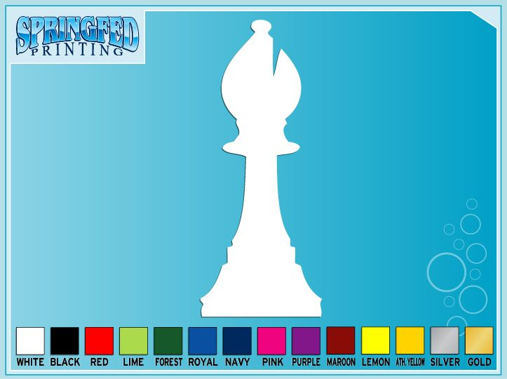 BISHOP Chess Piece Silhouette vinyl decal sticker #1